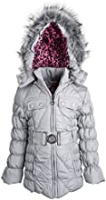 Dollhouse Little Girls Down Alternative Removable Hood Quilted Winter Coat