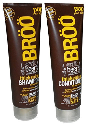 BROO Craft Beer Thickening Shampoo and Conditioner Citrus Creme 100% Natural Scent Color Safe and Vegan by BROO (Craft Beer Shampoo compare prices)