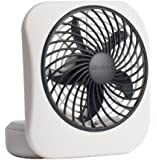 "O2COOL 5"" Battery Operated Portable Fan in WHITE/GREY"