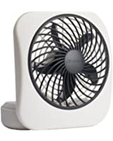 """O2COOL 5"""" Battery Operated Portable Fan in WHITE/GREY"""