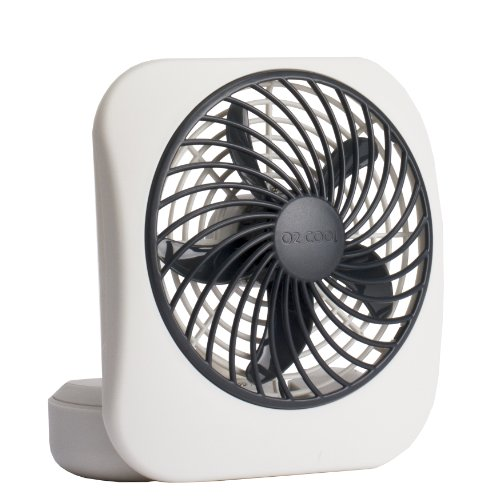 O2COOL 5-Inch Portable Fan, Gray (Quiet Battery Fan compare prices)