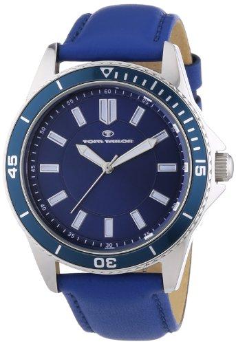 Tom Tailor - 5412501 - Montre Homme - Quartz Analogique - Bracelet Cuir Bleu