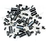 Generic 125pcs 25 Values Total Electrolytic Capacitors Assortment Kit 1uF to 2200uF