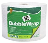 Duck Brand Bubble Wrap Original Protective Packaging, 12 Inches Wide x 150 Feet Long, Single Roll (1328730)