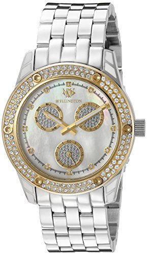 Wellington Mataura Women's Quartz Watch with Mother of Pearl Dial Analogue Display and Silver Stainless Steel Bracelet WN507-181B