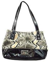 Nine West Penrose Snake Skin Patent Leather Tote Handbag