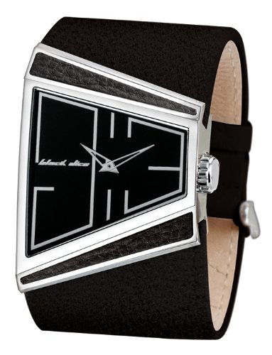 Black Dice BD-003-01 Gents Black Dial with Black Leather Strap Watch