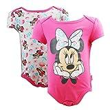 Disney Baby Girls Minnie Mouse Floral Print 2 piece Onesie Set