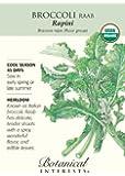 Broccoli Raab Certified Organic Heirloom Seeds 350 Seeds