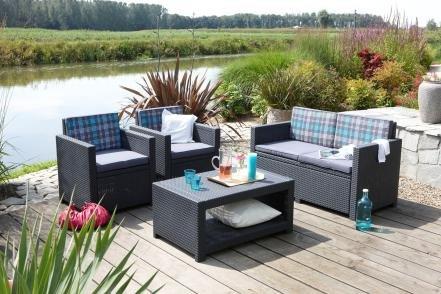 lounge sitzgruppe allibert monaco set preisvergleich. Black Bedroom Furniture Sets. Home Design Ideas