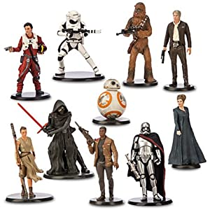 Star Wars: The Force Awakens Deluxe Figurine Playset (Han Solo, Princess Leia, Chewbacca, Rey, BB-8, Finn, Poe Dameron, Kylo Ren, Captain Phasma and a Flametrooper)