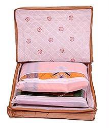 Kuber Industries (TM) 12 Sarees bag, saree cover, 1 bag for keeping 12 sarees ,Wedding Collection, Diwali Gift