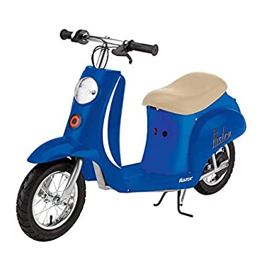 Razor Pocket Mod Bistro Electric Retro Scooter (Royal Blue)