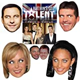 Celebrity Stars Britain's Got Talent TV Show Panel Judges Face Mask Hen & Stag, Fancy Dress, Christmas Party