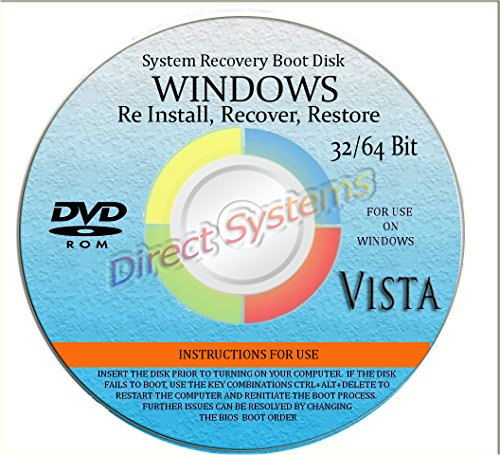 NEW WINDOWS VISTA * 2015 * ANY Version of 32 Bit and 64 Bit Home Basic, Home Premium, Professional, or Ultimate, Repair, Recovery, Restore, Re Install, Reinstall, Re-install & Reboot Fix Boot Disk DVD (Windows Vista Reboot Disk compare prices)