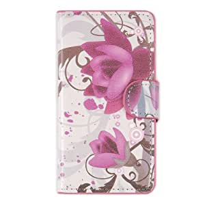 tinxi® Kunstleder Tasche für Sony Xperia Z1 Compact / mini Tasche Flipcase Schutz Case Cover Standfunktion mit Karten Slot lila Blume (nicht für Sony Z1 geeignet)