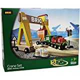 Brio Wooden Crane Train Set