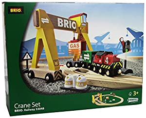 Brio Wooden Crane Train Set