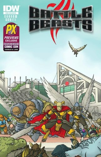 SDCC 2012 Exclusive Battle Beasts #1 (of 4) Comic Book