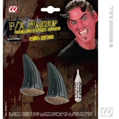 Black Special Effects SFx Devil Horns Makeup for SFX Halloween Stage Accessory