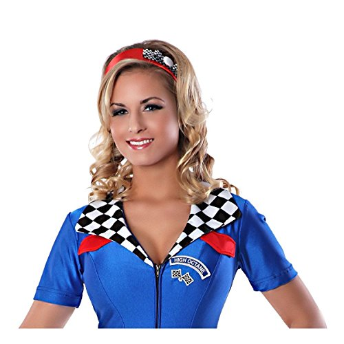 [GSG Race Car Driver Costume Adult Sexy Speed Racer Halloween Fancy Dress] (Zombie Race Car Driver Costume)