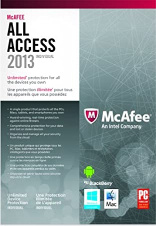 McAfee All Access For Individual - 2013 (bilingual software)