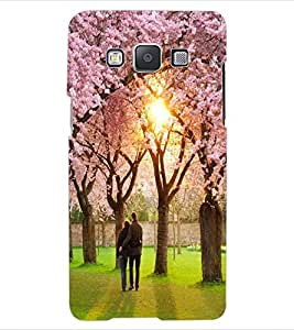 ColourCraft Lovely Couple Design Back Case Cover for SAMSUNG GALAXY E5