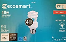 Ecosmart 9w CFL Soft White 40w Replacement Bulbs (4 Pack)