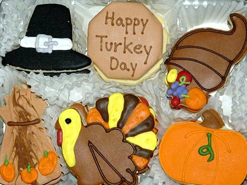 Happy Thanksgiving Sugar Cookies Gift Tin