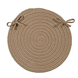 Colonial Mills FB91 Flowers Bay Chair Pad, 15 by 15-Inch, Cuban Sand, 4-Pack