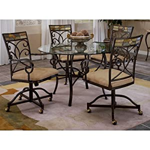 com round glass top dinette table mosaic glass dining room set