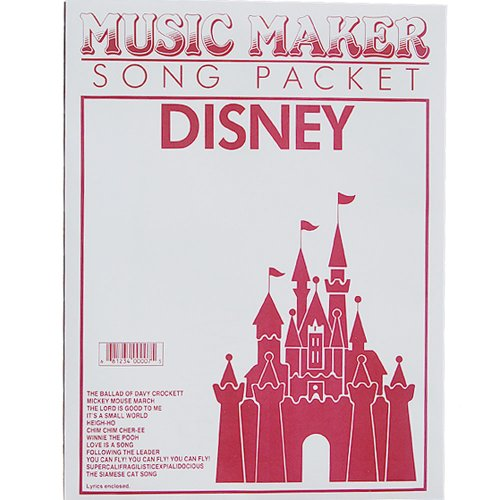European Expressions Intl Disney #1 Music Maker Song Sheet (Music Maker Lap Harp compare prices)