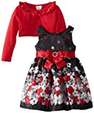 Youngland Girls 2-6X Shiny Satin Floral Occasion Dress