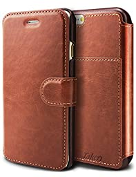 Taken Iphone 6 Wallet Case - Iphone 6s Case Pu Leather - Card Slot - Ultra Slim (Dark Brown)