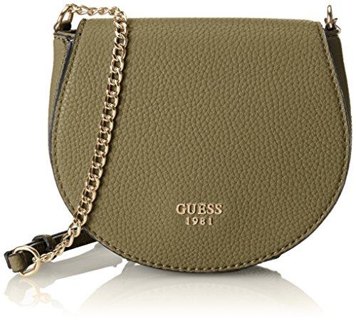 GUESS Cate Petite Saddle Bag Olive
