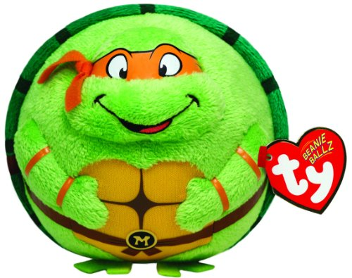 Ty Beanie Ballz Michelangelo Orange Mask front-708280