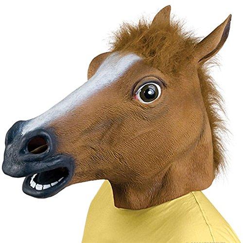 Queenshiny Masque Halloween tête de cheval Gangnam Style en latex