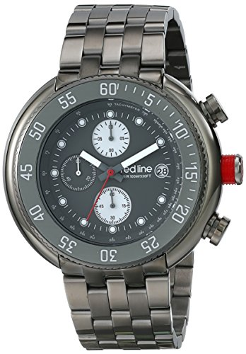 Red Line Men's Driver 50mm Chronograph Gun Metal IP Steel Bracelet & Case Quartz Date Watch 50038-GM-104