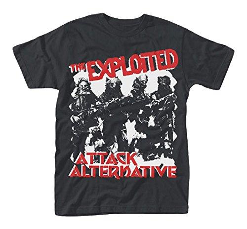 Plastic Head Exploited, the Attack, T-Shirt Uomo, Nero, Large