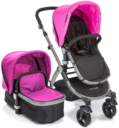 Baby Roues LeTour II PINK Lightweight Compact Stroller w/ Bassinet
