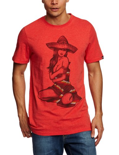Etnies Pin Up Shortsleeve Printed Men's T-Shirt Red/Heather X-Large