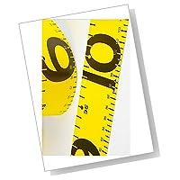 【ASPALAND】 フィッシング メジャー 【 120cm × 5cm 】 イエロー