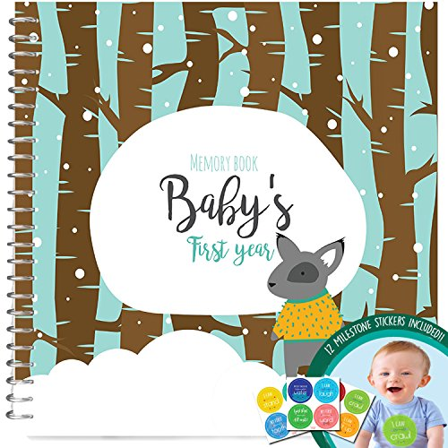 Baby's First Year Memory Book With 12 Milestone Stickers, Boys Winter Edition (Target Gift Card $10 compare prices)