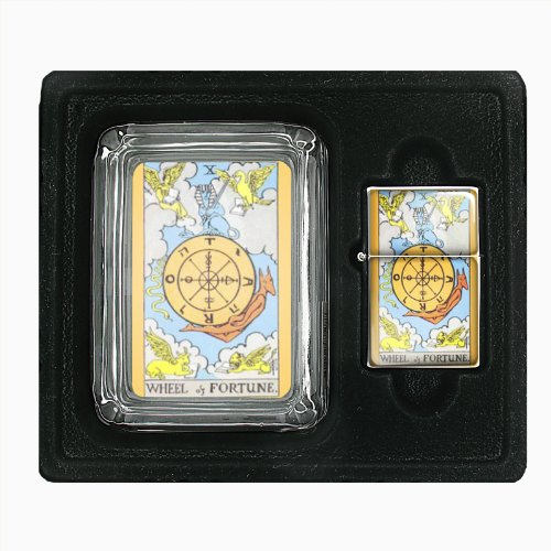 Wheel Of Fortune Tarot Jumbo Size Huge Big Giant 6.5 Inch Electronic Lighter D-125