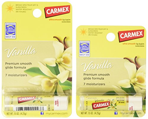 Carmex Ultra Smooth Vanilla Lip Balm Stick SPF 15 0.15 OZ