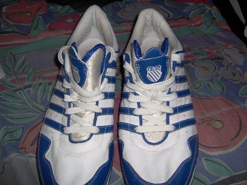 Mens K-Swiss Blue White Sneakers Size 14 Like New