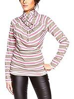 BANDIDA Camiseta Manga Larga (Taupe / Blanco / Rosa)