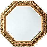 鏡 スタンドミラー 壁掛け 卓上 おしゃれ アンティーク 軽量 八角形 風水 飛散防止 かわいい 金 ゴールド