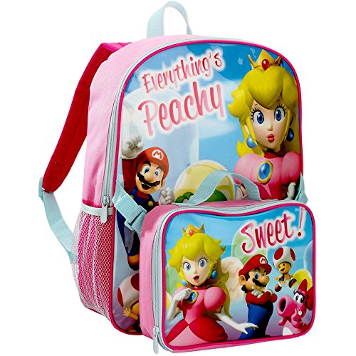Super Mario Girls Large Backpack with Insulated Lunch Bag (Super Mario Bros Comforter compare prices)