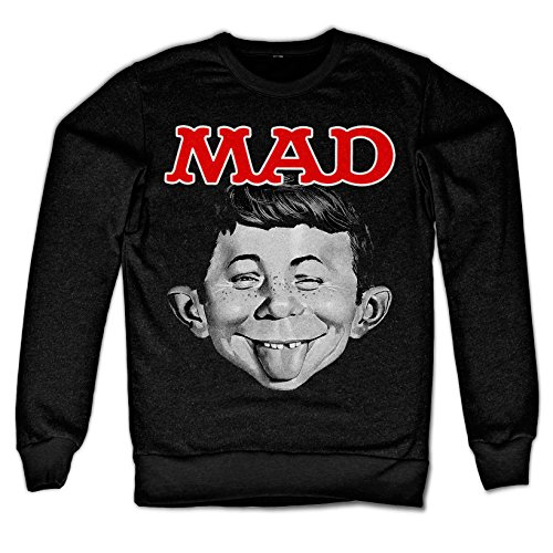 Officially Licensed Merchandise MAD Magazine - Alfred Sweatshirt (Black), Large